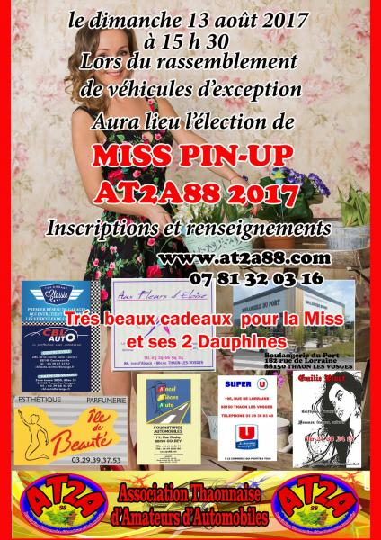Affiche miss at2a 2017