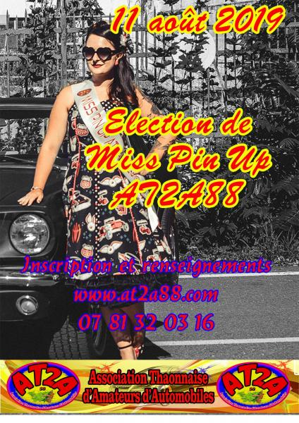 Affiche miss pinup 2019